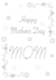 1000 images about mother 39 s day on pinterest mothers day coloring pages happy mothers day and. Black Bedroom Furniture Sets. Home Design Ideas