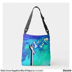 Holy Cross Sapphire Blue N Aqua Crossbody Bag Bag Pins, Holy Cross, Green Sapphire, Carry On Luggage, Edge Design, Accessories Shop, Fashion Bags, Clutches, Aqua