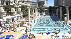 Garden of the Gods Pool Oasis at Ceasars PalaceOne of the most luxurious pool getaways on the strip, the Ceasars royal experience has 6 different pools which include, The Apollo, Fortuna, Jupiter, Neptune, Temple and the most exclusive of all, the Venus.
