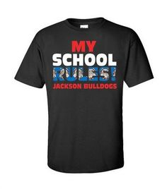 Bulldog Spiritwear T-Shirt Design.  School Spiritwear Shirts and Apparel.  Use your mascot graphic or ours.  EASY and RISK FREE!!     Great for Elementary Schools.  http://spiritwearshirts.com/