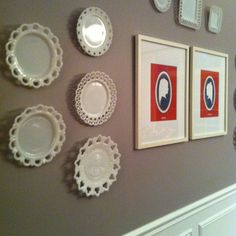 plate wall + silhouettes | square 1 studios