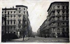 Berlin-Kreuzberg, Mittenwalder Straße Ecke Gneisenaustraße um 1900    damals Tempelhofer Vorstadt, Blick in Richtung Norden