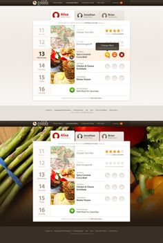 Meal Dashboard by musHo