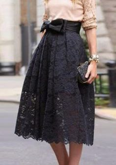 Fashioanble Lace Jacquard Bowknot Embellished Skirt For WomenSkirts | RoseGal.com