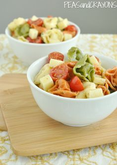 Cheesy Tortellini Pasta Salad - with homemade Italian dressing