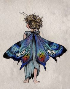 Fairy Child by Trudi Finch xXx Fairy Dust, Fairy Land, Fairy Tales, Magic Fairy, Magical Creatures, Fantasy Creatures, Arte Fashion, Fairy Drawings, Illustration Art