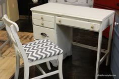 Chevron, Yellow and Gray Desk Refresh - Welcome to reFresh reStyle!