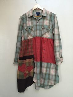 RESERVED-XL Large Patchwork Plaid Upcycled by SimplyCathrineAnn