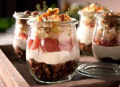 Birnen Ziegenkäse Sandwich im Glas | Foodlovin'