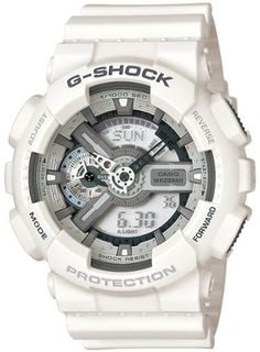 Casio Mens G-Shock GA110C-7A White Resin Quartz Sport Watch