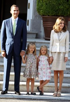 Pope Benedict XVI meets the Spanish royal family at Zarzuela Palace on the second day of his visit to Spain.