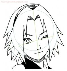 How to draw Sakura Haruno from Naruto step by step