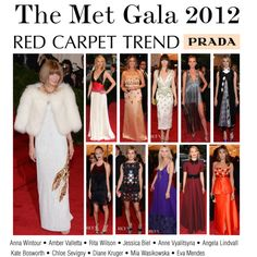 Red Carpet Trend: Prada at the Met Gala 2012, created by polyvore-editorial on Polyvore