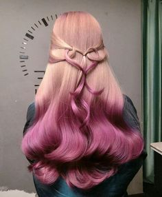 Fashionable hair color 2019 for long hair: Basic trends and trends in the photo - Frisuren - Pink Blonde Hair, Purple Hair, Ombre Hair, Purple Tips, Green Hair, Hair Dye Colors, Cool Hair Color, Hair Colour, Trendy Hairstyles
