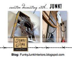 Creative decorating with JUNK! Join Funky Junk Interiors at: http://funkyjunkinteriors.blogspot.com/