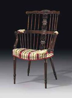 Late George III Mahogany Windsor Armchair, Late 18th Century