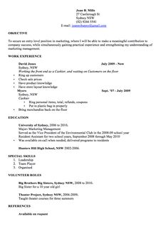 Professional Resume Template Word Examples  Joan B. Mills  27 Castlereagh St Sydney NSW (02) 9266 5541 E-mail: joannybunny@gmail.com  OBJECTIVE  To secure an entry level position in marketing, where I...