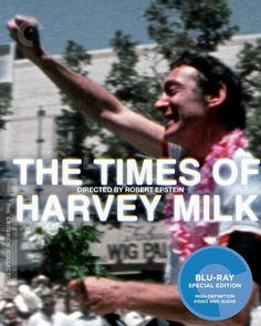 """Winner of Oscar for Best Documentary, Rob Epstein's """"The Times of Harvey Milk"""" (1984) arrives on Blu-ray courtesy of Criterion. Description from blu-ray.com. I searched for this on bing.com/images"""