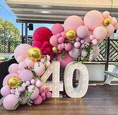 How to Make Balloon Garland-Popular Balloon Decorations Using Balloons - Balloon Decorations 🎈 40th Birthday Balloons, 50th Birthday Party Decorations, Elegant Birthday Party, Adult Birthday Party, 40th Birthday Parties, Party Wedding, 40th Birthday Party Ideas For Women, 40th Bday Ideas, Birthday Party Decorations For Adults