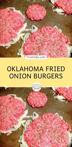 Oklahoma Fried Onion Burgers Oklahoma Fried Onion Burgers As seen on Cook's Country 1 large onion, peeled, halved and thinly sliced salt and pepper 1 lb ground beef 1 tablespoon butter 1 tablespoon vegetable oil slices American cheese Beef Dishes, Food Dishes, Main Dishes, Fried Onion Burger Recipe, Ground Beef Sandwich Recipe, Meat Recipes, Onion Recipes, Recipies, Healthy Hamburger Recipes