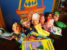 Spielzeug - vintage, KASPERLTHEATER/+ 11 PUPPEN/+ 4 HEFTE/1970 - ein Designerstück von KleineZeitreise bei DaWanda
