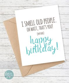 Funny Birthday Card Boyfriend Birthday Friend by FlairandPaper
