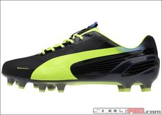 Puma evoSPEED 1.2 FG Soccer Cleats - Black with Fluo Yellow...$166.49