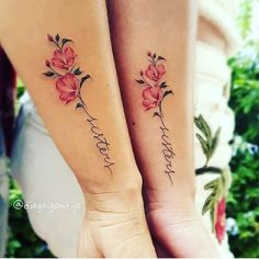 With 3 flowers and 2 buds, Mommy Tattoos, Sibling Tattoos, Mother Tattoos, Family Tattoos, Friend Tattoos, Mother Daughter Tattoos, Mini Tattoos, Rose Tattoos, Body Art Tattoos