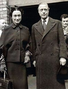 """The Duke and Duchess of Windsor at Victoria Station, 1949. Described by Noel Coward as having """"All the charm in the world with nothing to back it up"""" the Duke of Windsor was a Peter Pan Prince. Self involved and never wanting the party to stop, he was a flirtatious and hopeless romantic"""