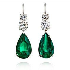@neligems. Great Emerald Earrings 35 carats
