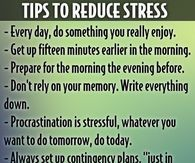 Tips To Reduce Stress