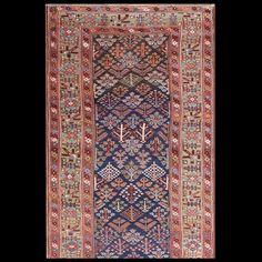 Stock Id: #21410    General Rug Type:       Persian Informal    Specific Rug Type:       N.W.Persian    Circa: 1820    Color: Navy    Origin: Persia    Width: 4' 5'' ( 134.6 cm )    Length: 12' 3'' ( 373.4 cm )