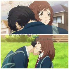 Ao Haru Ride- My heart was beating so fast at this part Anime Cupples, Anime Japan, Kawaii Anime, Anime Guys, Naruto, Ao Haru Ride Kou, Mabuchi Kou, Anime Love Story, Howl And Sophie