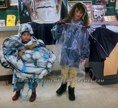 Storm Cloud and Lightning Victim Couple Costume... Coolest Halloween Costume Contest