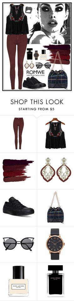 """""""Romwe 10"""" by amra-f ❤ liked on Polyvore featuring SAM, Topshop, Serge Lutens, Converse, Marc Jacobs, Narciso Rodriguez, 1d, romwe and 5sos"""