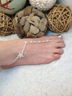 Foot Jewelry Starfish Wedding Barefoot by SilverSpoonLifestyle, $33.95