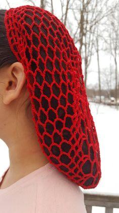 Crochet Snood Hairnet Headcovering Civil War Pin Up
