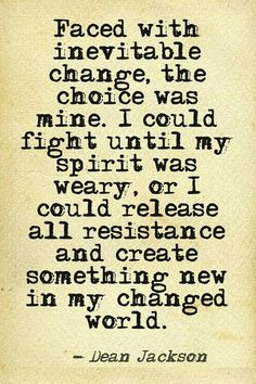 let go and change