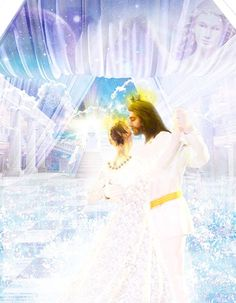 Jesus Christ and his Bride, the Church at the banquet dance. Just got married in heaven on 🌎. Jesus Our Savior, Jesus Art, God Jesus, Dancing With Jesus, Images Gif, Bride Of Christ, Jesus Is Coming, Prophetic Art, Biblical Art