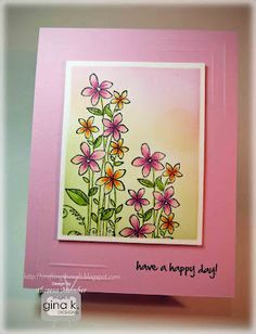 Gina K designs One in A Million stamp set colored with copics by Theresa Momber