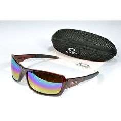 Oakley Women'S Sunglasses Blue-Pink-Yellow Iridium Clear Brown Frames-20720