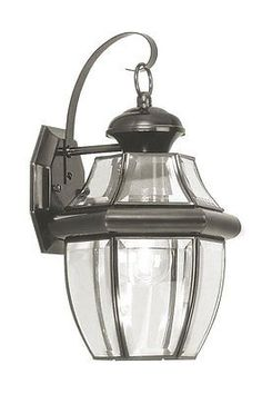 Other Outdoor Lighting 20509: Livex Lighting Monterey Black Outdoor Wall Lantern W 1 Light 100W New -> BUY IT NOW ONLY: $77.9 on eBay!