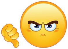 dislike emoticon sticker