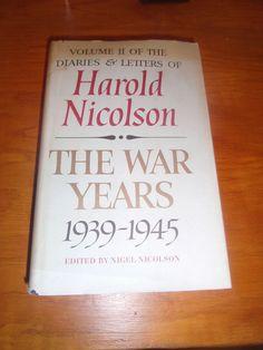 The War Years 1939-1945 Harold Nicolson HCDJ 1967 BOMC First Edition VOL 2.