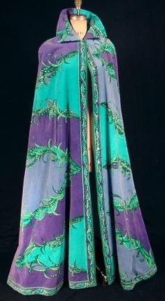 c. 1968 Rare EMILIO PUCCI Long Terry Cotton Velour Cape! From the Estate of Isabel McLaughlin