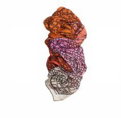Delvaux : Brillant Magique Scarf, Silk Mousseline : Sunset & Flamingo