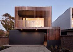 Photo 10 of 16 in McCrae House 1 & 2 by Vibe Design Group - Dwell Wood Cladding Exterior, Cladding Design, House Cladding, Facade Design, Facade House, House Exteriors, House Front Design, Modern House Design, Timber Battens