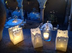 umbria wedding decorations , lanterne di carta