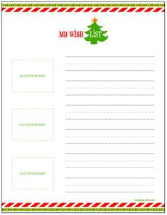 Free Printable Christmas Wish Lists for Kids  Living Locurto ~ A Creative DIY Lifestyle Blog