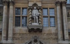 A statue of Cecil Rhodes on the facade of Oriel College, Oxford Education In England, University College Cork, Racial Diversity, Stop Lying, Its Time To Stop, Catholic School, Flesh And Blood, Famous Men, Oxford